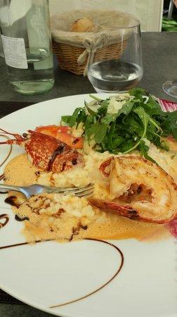 Restaurant l'Antidote Christophe Ferré : Homard et risotto  (avec petit supplément  :)  )