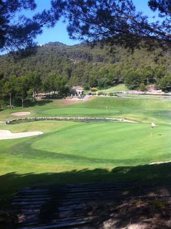 Golf de Andratx: overlooking the 6th and 8th greens also the halfway house