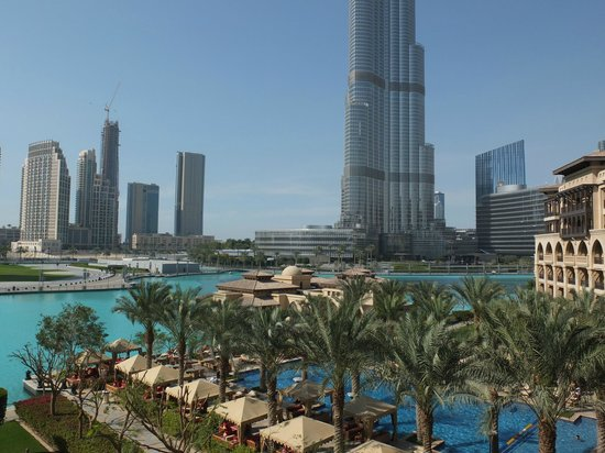 The Palace Downtown Dubai: View from my suite 1st floor
