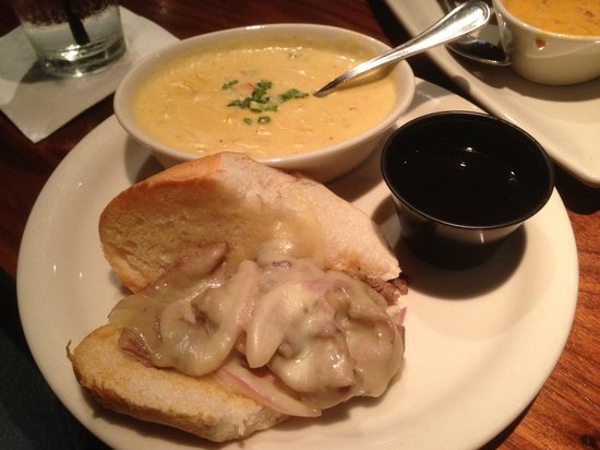 Hollie's Flatiron Steakhouse : The lunch prime rib with chicken chowder soup was a little too rich for my taste.