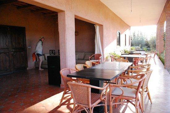Riad Bledna : la terrasse