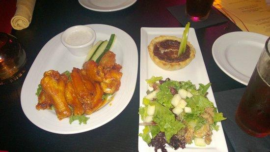 Revelry Pub & Grill: Mango Curry Hot Wings, Stilton Tart