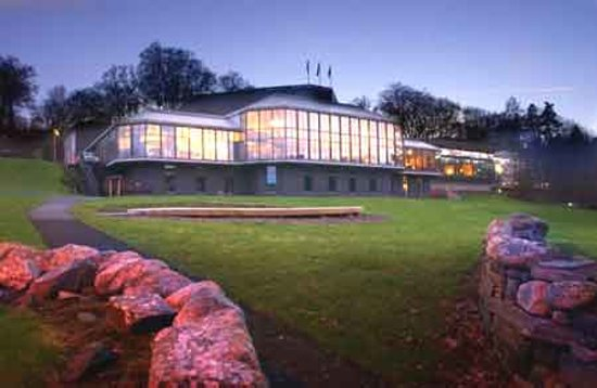 Pitlochry Festival Theatre : Festival theatre at dusk