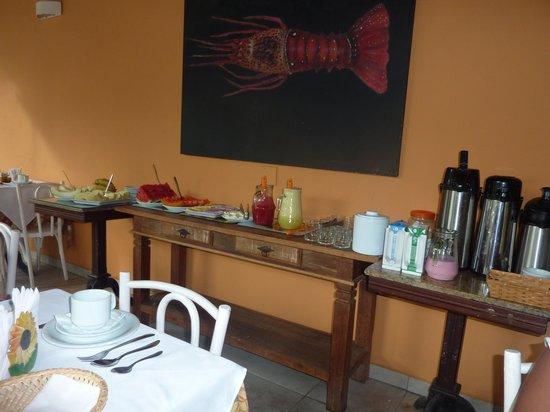 Auberge de la Langouste: deyuno