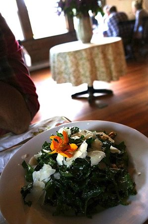 Nebo Lodge: Mixed Kale, Toasted Walnuts, Lemon Vinaigrette, Parmesan Reggiano