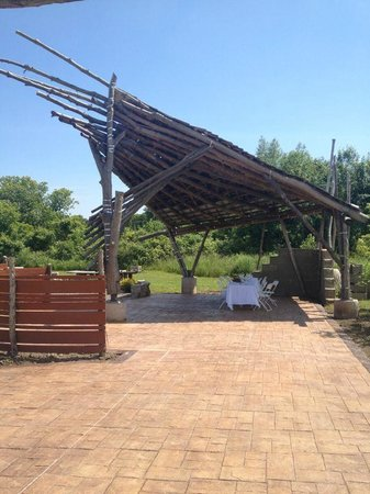 Fifth Town Artisan Cheese: Unique Gazebo - Location of Wine and Cheese Tasting