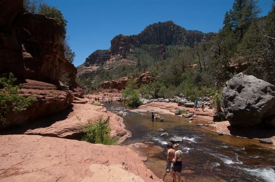 Slide Rock State Park: Further up the river