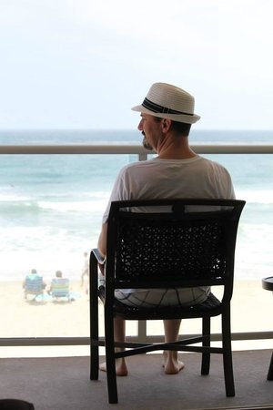 Beach Terrace Inn: just enjoying the beach from our room