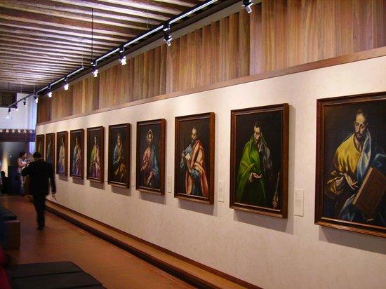 Museo del Greco : Una de las galerías con las obras de El greco.