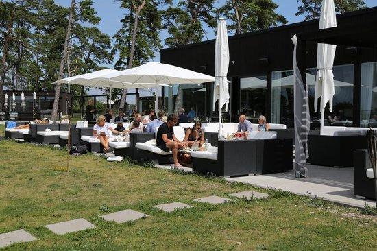 Djupvik Hotel: Outside restaurant