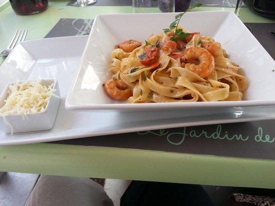 Restaurant L'Aquarium : tagliatelles aux fruits de mer