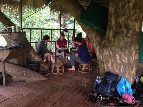Huay Xai, Laos: na cabana