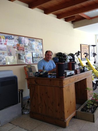 Segway Station Tour Experience: Andros at his desk