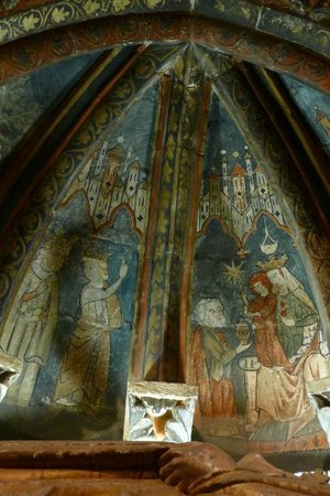 Old Cathedral (Catedral Vieja): Frescoes in the cloisters