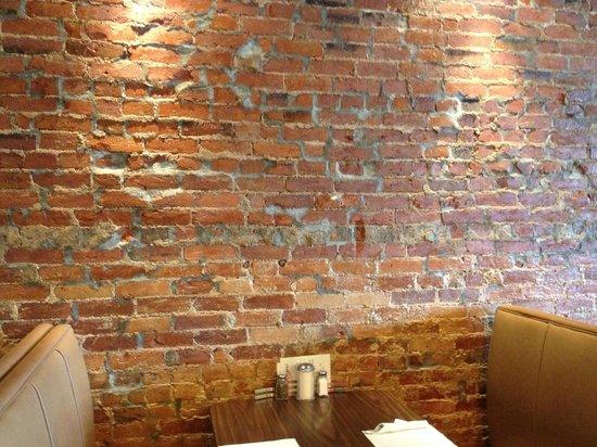 Main Street Diner: Rustic brick