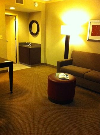 Embassy Suites North Shore / Deerfield: Living area with wet bar sink