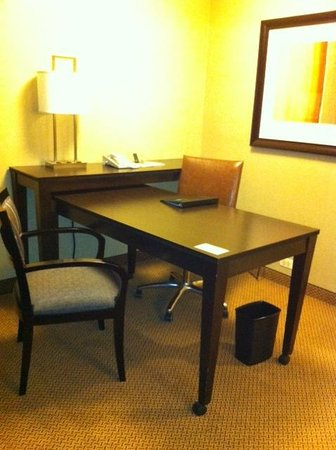 Embassy Suites North Shore / Deerfield: Large work desk with lots of electrical outlets