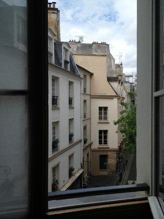 "Hotel de Notre Dame ""Maitre Albert"": View from room 21 down Maitre Albert"