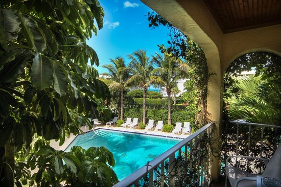 The Caribbean Court Boutique Hotel: view from our balcony Rm 121
