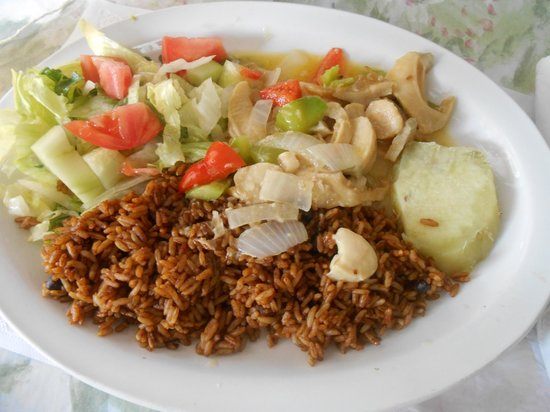 Kim's : Conch in butter sauce with seasoned rice! YUM