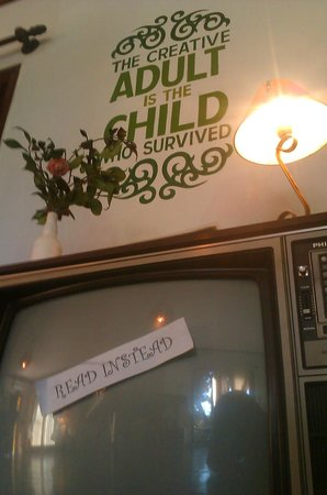 Mango Tree Hostel Bar: The Creative Adult is the Child who survived