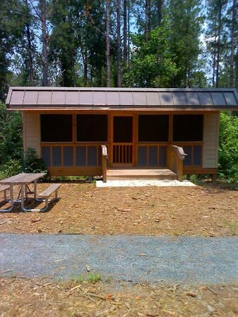 Chattahoochee Bend State Park : One of the 3 Adirondack camping platforms