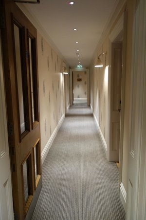 The Soho Hotel : 5th floor hallway with great paisley wallpaper