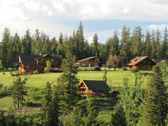 Echo Valley Ranch & Spa: the setting from across a valley on the other side