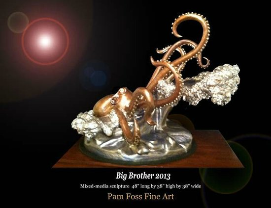 Pam Foss Fine Art: Octopus bronze by Pam Foss