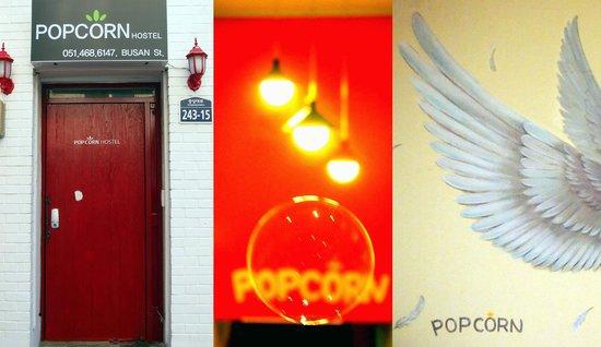 Popcorn Hostel Busan Station: Gate lights and photozone