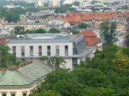 Radisson Blu Hotel Kraków : Hotel from the Cathedral