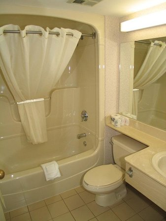 Comfort Inn: Stylish and Spacious Guestroom Bathroom