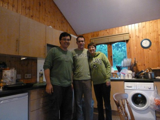 Lochletter Lodges : Chilling in the kitchen