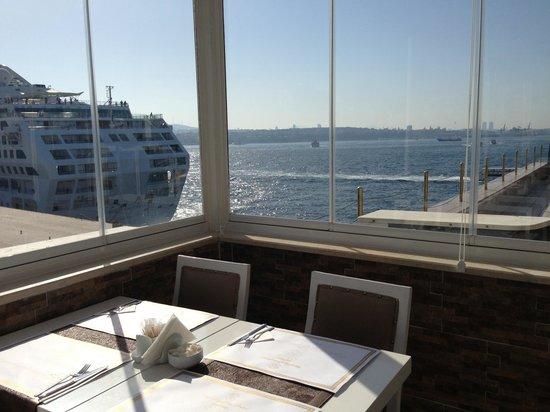 Karakoy Port Hotel: The breakfast view