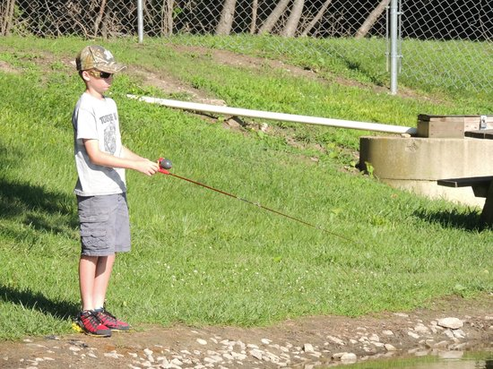 Sandusky KOA campground: Fishing pond.  Catch and release.