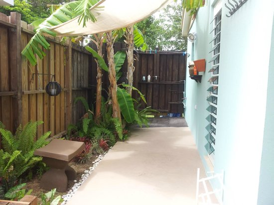 Villa Coral Guesthouse : Outdoor shower