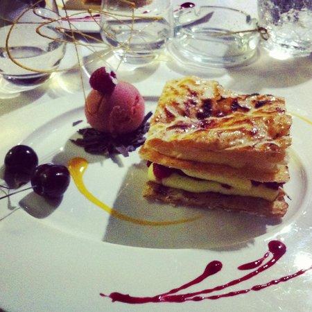 La Bonne Fourchette: Millefeuille et son sorbet fraise basilic