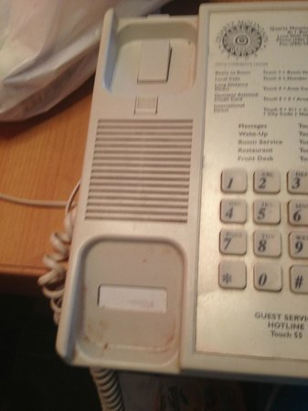Quartz Mountain Resort Arts & Conference Center: Room phone - does that look clean to you?