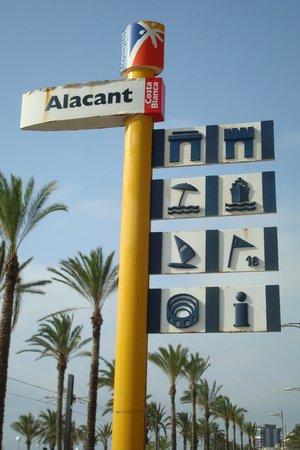 Almirante Hotel: Bus stop near the hotel