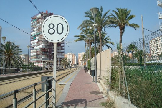 Almirante Hotel: To the tram stop