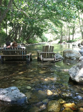 Big Sur River Inn Restaurant: Relaxing River Seats