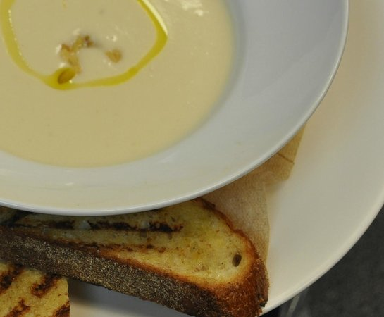 Soup Kitchen Dallas | Cauliflower Soup With Roasted Garlic Picture Of Battuto