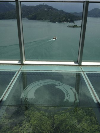 The Wen Wan Resort Sun Moon Lake: View from the 11th floor observatory - glass floor