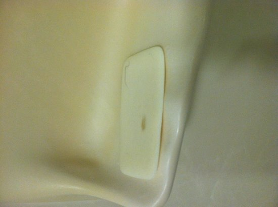 SpringHill Suites Pinehurst Southern Pines : This USED bar of soap WITH BLACK HAIR ON IT was already in the shower when I went to take a show