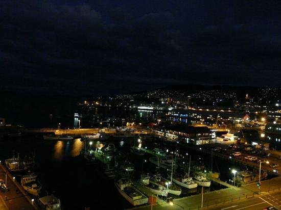 Grand Chancellor Hotel Hobart: Night view from our room on 16th floor.