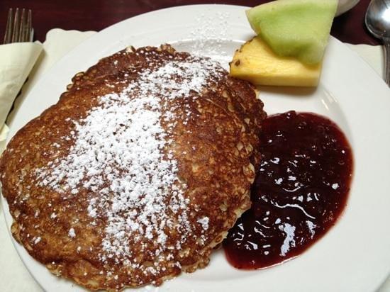 Alana's: Swedish oatmeal pancakes with Lingoberries