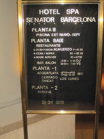 Senator Barcelona Spa Hotel : Infotafel