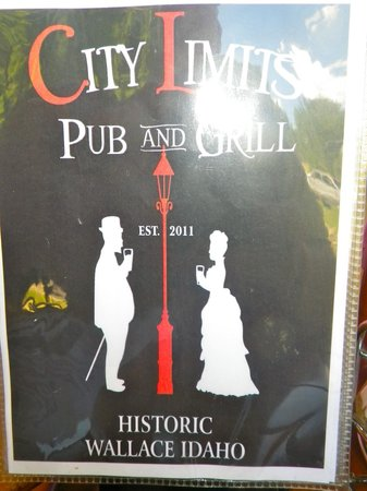 City Limits Pub: The menu