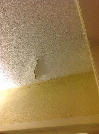 Quality Inn Opelika : Peeling ceiling