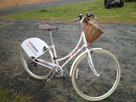I Heart Bikes: One of their bikes, not all were girly, but this was cute.